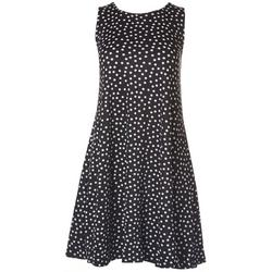Petite Polka Dot Print Sleeveless Dress