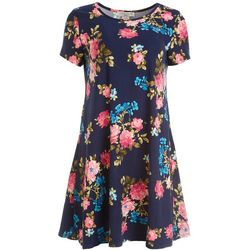 Jamie & Layla Petite Floral Print Swing Dress