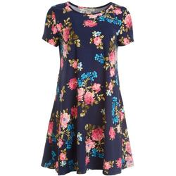 Petite Floral Print Swing Dress