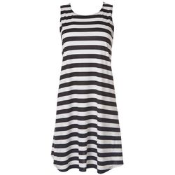 Jamie & Layla Petite Striped Print Sleeveless Dress