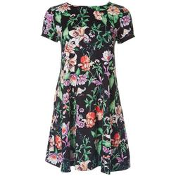 Jamie and Lyla Petite Tropical Print T-Shirt Dress