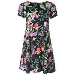 Petite Tropical Print T-Shirt Dress