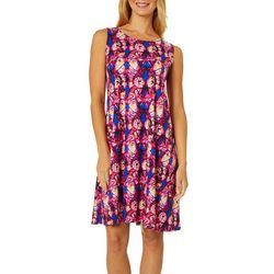 Allison Brittney Petite Abstract Butterfly Sundress
