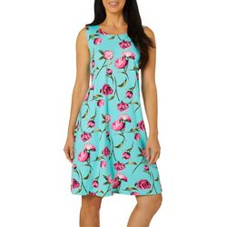 Allison Brittney Petite Floral Stem Sleeveless Sundress