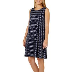 Allison Brittney Petite Polka Dot Print Sleeveless Sundress
