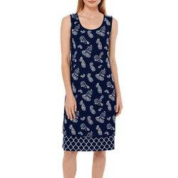 Allison Brittney Petite Paisley Tile Reversible Sundress