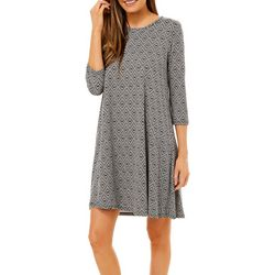 Allison Brittney Petite Quarter Sleeve Yummy Swing Dress