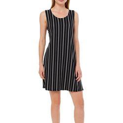Allison Brittney Petite Pin Striped Sundress