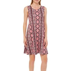Allison Brittney Petite Geometric Striped Sundress