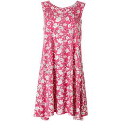 Petite Floral & Paisley Print Swing Dress