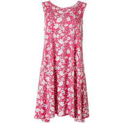 Allison Brittney Petite Floral & Paisley Print Swing Dress