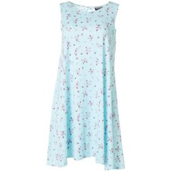Petite Sleeveless Floral Yummy Swing Dress