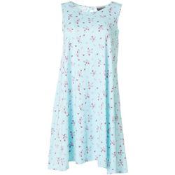 Allison Brittney Petite Sleeveless Floral Yummy Swing Dress