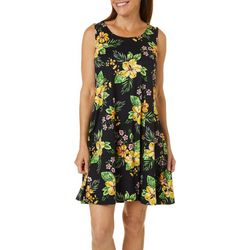 Allison Brittney Petite Floral Yummy Swing Dress