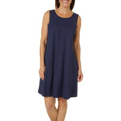 Allison Brittney Petite Polka Dot Yummy Swing Dress