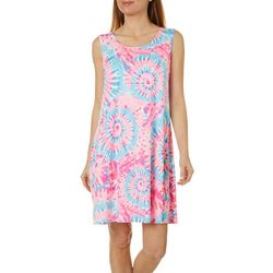 Allison Brittney Petite Sleeveless Tie Dye Yummy Swing Dress