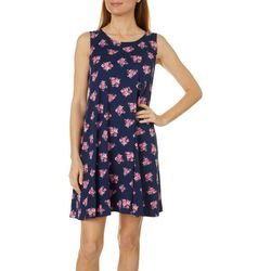 Allison Brittney Petite Floral Design Yummy Swing Dress