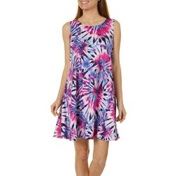 Allison Brittney Tie Dye Design Yummy Swing Dress