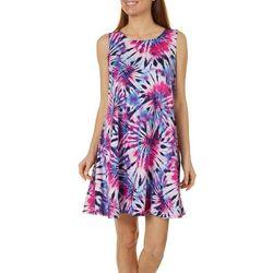 Tie Dye Design Yummy Swing Dress