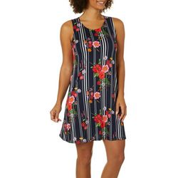 Allison Brittney Petite Striped Floral Print Sundress