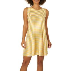 Allison Brittney Petite Horizontal Stripe Print Sundress