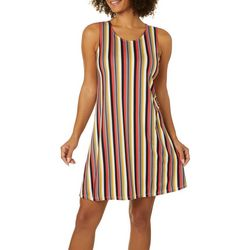 Allison Brittney Petite Vertical Stripe Print Sundress
