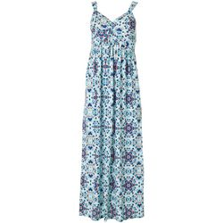 Allison Brittney Petite Mandala Twist Front Maxi Dress