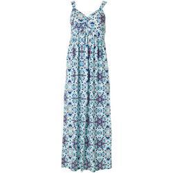 Petite Mandala Twist Front Maxi Dress