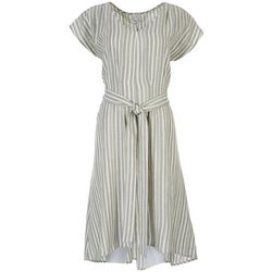 Naif Womens Striped Tie Dress