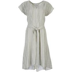 Womens Striped Tie Dress