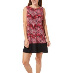 Ronni Nicole Petite Paisley Border Print Shift Dress