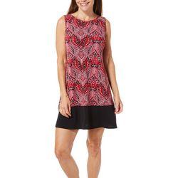 Ronni Nicole Petite Paisley Border Print Shift Dress