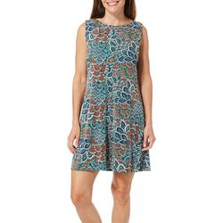 Ronni Nicole Petite Medallion Puff Print Shift Dress
