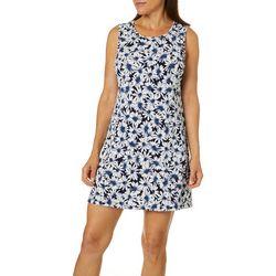Ronni Nicole Petite Daisy Puff Print Sleeveless Swing Dress