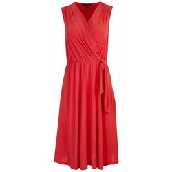 Tiana B Petite Solid Sleeveless Midi Dress