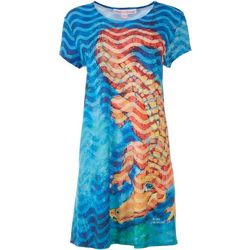 Leoma Lovegrove Petite Alligator T-Shirt Dress