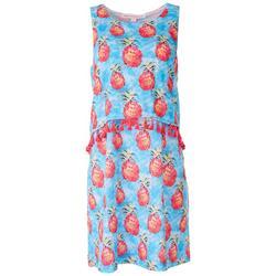 Petite Pinapple Tassle Sleevless Dress