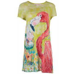 Leoma Lovegrove Petite Flamingo Hibiscus Dress
