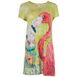Petite Flamingo Hibiscus Dress