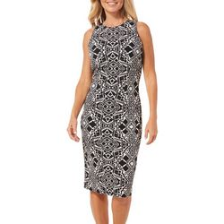 London Times Petite Geometric Sheath Dress