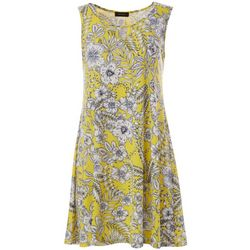 Espresso Petite Sleeveless Floral Design Dress