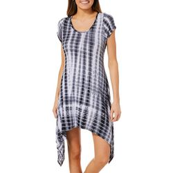 French Atmosphere Petite Faded Tie Dye T-Shirt Dress