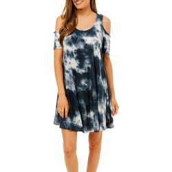 Lexington Avenue Petite Tie Dye Print Cold Shoulder Sundress