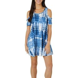 Lexington Avenue Petite Cold Shoulder Tie Dye Print Sundress