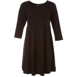 Lexington Avenue Petite Ribbed Solid Dress
