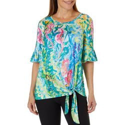 Leoma Lovegrove Womens Sea Scouts Tie Front Top