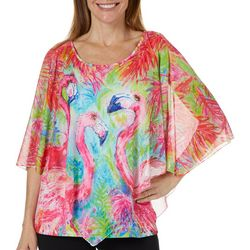 Leoma Lovegrove Womens Pink Power Poncho Top