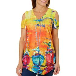 Leoma Lovegrove Womens Sailors Delight Cold Shoulder Top