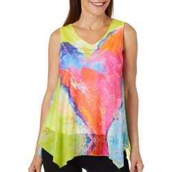 Leoma Lovegrove Womens Art Throb Mesh Sleeveless Top