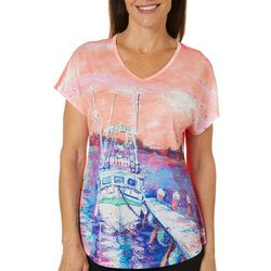 Leoma Lovegrove Womens Fishing Boat Dolman T-Shirt
